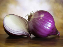 Redonions3. Studio still life shot of red onions Stock Photo