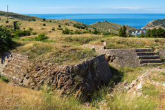 Redoubts of nineteenth century. Balaklava in Crimea. Stock Photos
