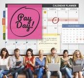 Redovisning för löndag som packar ihop begrepp för budget- ekonomi Royaltyfria Bilder