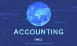 Redovisningspengar som packar ihop finansiellt begrepp Arkivfoton