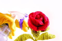 Redr rose crochet Royalty Free Stock Photography