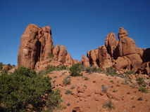 Redrock of Arches NP Royalty Free Stock Photo