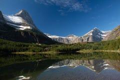 Redrock Lake. A view of beautiful Redrock Lake in Glacier National Park stock image