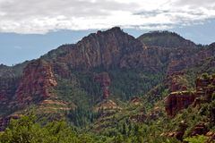 Redrock sedona park in arizona. Road trip along USA West Coast redrock sedona park in arizona stock images