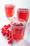Redrurrant juice and berry Stock Photo
