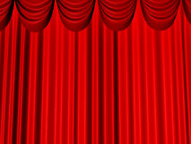 Reds beautiful curtains Royalty Free Stock Image