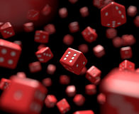 Reds dice falling Stock Images