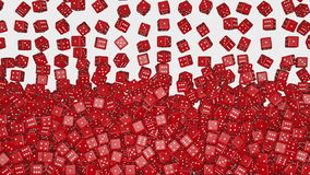 Reds dice falling stock footage