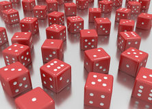 Reds dice Royalty Free Stock Images