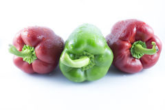 Reds and green peppers Royalty Free Stock Photo