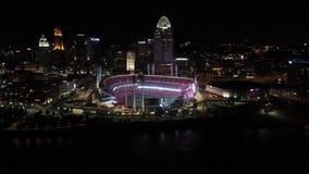 Reds Stadium at night stock photos