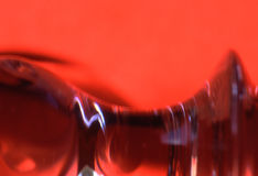 RedShadow. A macro shoot of reflecting red surfaces stock images
