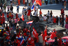 Redshirt Protesters - Armoured Vehicle Stock Images