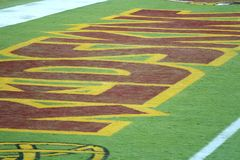 Redskins End zone: NFL - American Football Stock Image