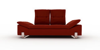 Redsofa on white background Royalty Free Stock Images