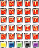 Redsquarebuttons Royalty-vrije Stock Afbeelding