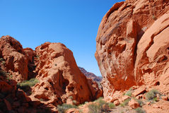 Redstone area in the Lake Mead Recreational Area. Stock Photo
