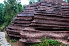 Redstone Forest National Geopark perto de Furong, Hunan, China fotografia de stock