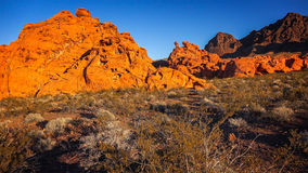 Redstone in the Lake Mead National Recreation Area Royalty Free Stock Photos