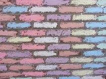 Redstone tegelstenvägg Arkivbild