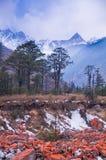 The redstone under the iceberg Stock Photos