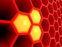 redtech för honungskaka 3d Royaltyfria Bilder