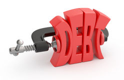 Reducción de deuda. Imagenes de archivo