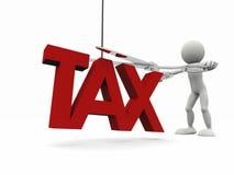 reducción de impuestos 3d Fotos de archivo libres de regalías