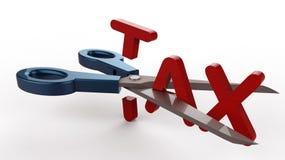 Reducción de impuestos Imagen de archivo libre de regalías