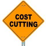 Reducción de los costes Foto de archivo libre de regalías