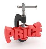 Reducción de precio. Foto de archivo libre de regalías