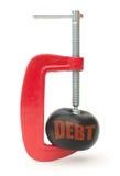 Reducción de deuda Imágenes de archivo libres de regalías