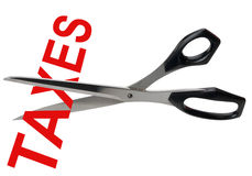 Reducciones de impuestos, aisladas Foto de archivo libre de regalías