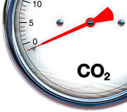 Reduce CO2. 3D illustration of reducing CO2 Stock Photo