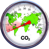 Reduce CO2. 3D illustration of a reducing CO2 concept royalty free illustration
