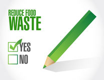 Reduce food waste approve sign concept Stock Images