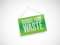 Reduce food waste banner sign concept Royalty Free Stock Photo