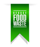 Reduce food waste banner sign. Concept illustration design over white background Stock Photos