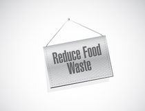 Reduce food waste banner sign concept Royalty Free Stock Image