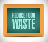 Reduce food waste board sign concept Royalty Free Stock Photography