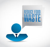 Reduce food waste businessman sign concept Royalty Free Stock Photography