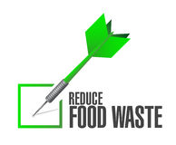 Reduce food waste check dart sign concept Stock Image
