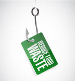 Reduce food waste hook sign concept Stock Photography