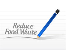 Reduce food waste message sign concept Royalty Free Stock Photo