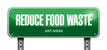 Reduce food waste post sign concept Royalty Free Stock Image