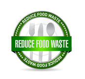 Reduce food waste seal sign concept. Illustration design over white background Royalty Free Stock Image