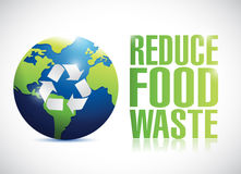 Reduce food waste sign illustration design Royalty Free Stock Photo