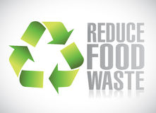 Reduce food waste sign illustration Royalty Free Stock Image