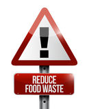Reduce food waste warning road sign Royalty Free Stock Photo