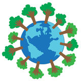 Reduce global warming. Vector illustration Stock Photo
